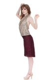 merlot opulence ruched skirt - Poema Tango Clothes: handmade luxury clothing for Argentine tango