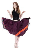 merlot silk & stained glass roses circle skirt - Poema Tango Clothes: handmade luxury clothing for Argentine tango