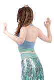 mermaid ruched halter - Poema Tango Clothes: handmade luxury clothing for Argentine tango