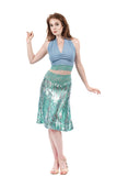mermaid sequins flared skirt - Poema Tango Clothes: handmade luxury clothing for Argentine tango