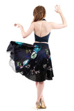 midnight garden circle skirt - Poema Tango Clothes: handmade luxury clothing for Argentine tango