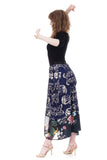 mixed media bustled skirt - Poema Tango Clothes: handmade luxury clothing for Argentine tango