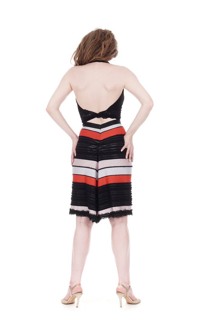 modern texture ruched skirt - Poema Tango Clothes: handmade luxury clothing for Argentine tango