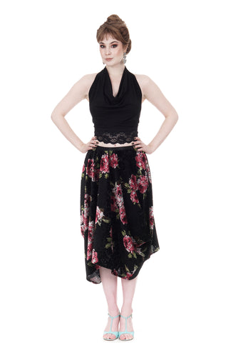 monet velvet bustle skirt