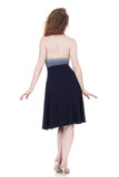navy rib and twilight ombre dress - Poema Tango Clothes: handmade luxury clothing for Argentine tango