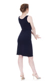 navy rib tank dress - Poema Tango Clothes: handmade luxury clothing for Argentine tango