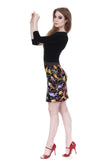 night bird short skirt - Poema Tango Clothes: handmade luxury clothing for Argentine tango