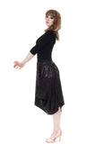 night sequins bustled skirt - Poema Tango Clothes: handmade luxury clothing for Argentine tango