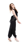 night spangle and french forest tango trousers - Poema Tango Clothes: handmade luxury clothing for Argentine tango
