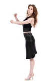 night spangle ruched skirt - Poema Tango Clothes: handmade luxury clothing for Argentine tango