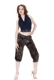 olive burnout tango pants - Poema Tango Clothes: handmade luxury clothing for Argentine tango
