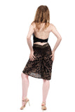 olive velvet burnout ruched skirt