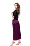 orchid silk pleated trousers - Poema Tango Clothes: handmade luxury clothing for Argentine tango