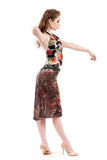 ottoman dapple fluted skirt - Poema Tango Clothes: handmade luxury clothing for Argentine tango