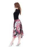 overblooming chiffon bustled skirt - Poema Tango Clothes: handmade luxury clothing for Argentine tango