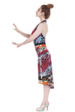 painterly halter dress - Poema Tango Clothes: handmade luxury clothing for Argentine tango