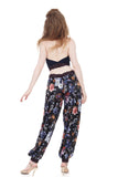 painterly night blossom tango trousers - Poema Tango Clothes: handmade luxury clothing for Argentine tango