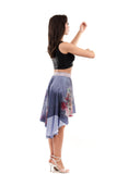 pale violets skirt - Poema Tango Clothes: handmade luxury clothing for Argentine tango