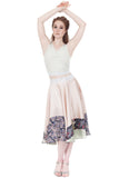 pastel garden silk skirt - Poema Tango Clothes: handmade luxury clothing for Argentine tango
