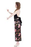 peach tree silk wide leg tango pants - Poema Tango Clothes: handmade luxury clothing for Argentine tango
