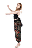 peacocks & roses burnout velvet tango pants - Poema Tango Clothes: handmade luxury clothing for Argentine tango