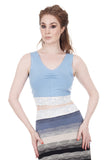 periwinkle ruched tank - Poema Tango Clothes: handmade luxury clothing for Argentine tango