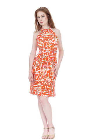 persimmon graphic dress