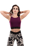 plum bamboo dance tank - Poema Tango Clothes: handmade luxury clothing for Argentine tango