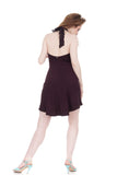 plum burgundy fluted dress - Poema Tango Clothes: handmade luxury clothing for Argentine tango