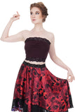 plum burgundy long bandeau - Poema Tango Clothes: handmade luxury clothing for Argentine tango