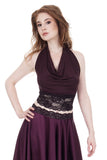 plum burgundy wrap top - Poema Tango Clothes: handmade luxury clothing for Argentine tango