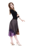 plum grey striated silk skirt - Poema Tango Clothes: handmade luxury clothing for Argentine tango