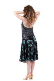 mazarine blooms flared skirt