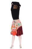 pop of orange circle skirt - Poema Tango Clothes: handmade luxury clothing for Argentine tango