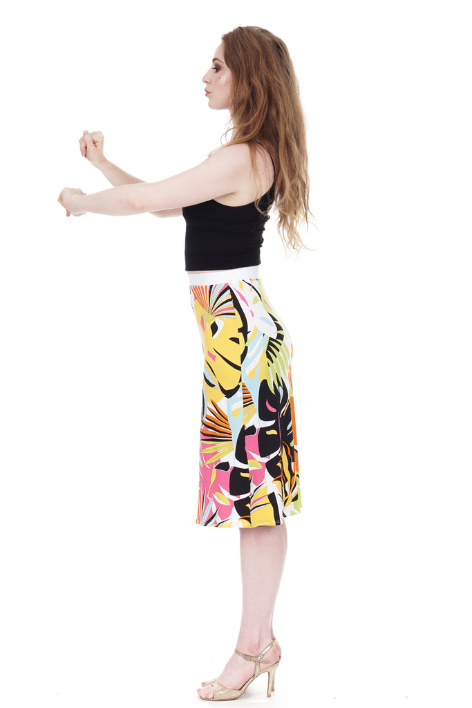 pop tropic pencil skirt - Poema Tango Clothes: handmade luxury clothing for Argentine tango