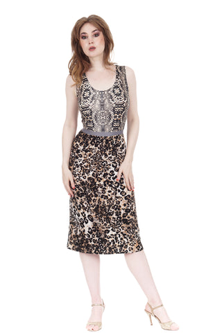 python & big cat ruched tank dress