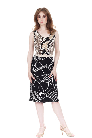 python & black moderne dress
