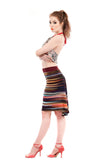 rainbow striations skirt - Poema Tango Clothes: handmade luxury clothing for Argentine tango
