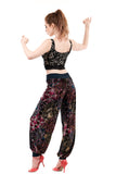 rainbow tile burnout velvet tango trousers - Poema Tango Clothes: handmade luxury clothing for Argentine tango