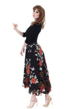 ramble rose & vintage velvet skirt - Poema Tango Clothes: handmade luxury clothing for Argentine tango
