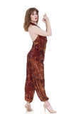 red gold leopard tango trousers - Poema Tango Clothes: handmade luxury clothing for Argentine tango