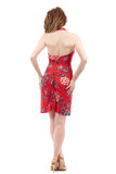 red porcelain halter dress - Poema Tango Clothes: handmade luxury clothing for Argentine tango