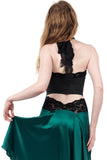 rich charcoal halter bandeau - Poema Tango Clothes: handmade luxury clothing for Argentine tango