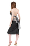 rich charcoal ruched skirt - Poema Tango Clothes: handmade luxury clothing for Argentine tango