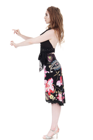 rose festival fluted skirt