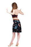 rosewood & black porcelain skirt - Poema Tango Clothes: handmade luxury clothing for Argentine tango