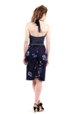 royal falling blooms ruched skirt - Poema Tango Clothes: handmade luxury clothing for Argentine tango