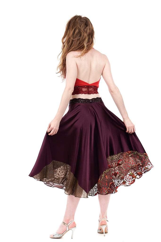 royalty circle skirt - Poema Tango Clothes: handmade luxury clothing for Argentine tango