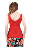ruby moire peplum tank - Poema Tango Clothes: handmade luxury clothing for Argentine tango