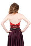 ruby moire signature halter - Poema Tango Clothes: handmade luxury clothing for Argentine tango
